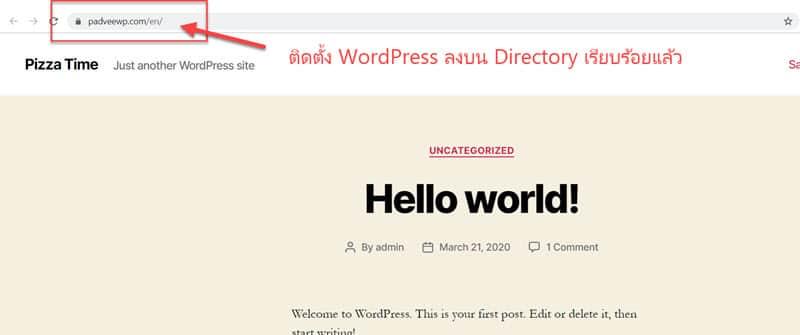 ลง WordPress