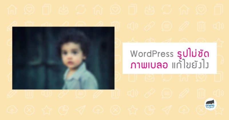 WordPress รูปไม่ชัด